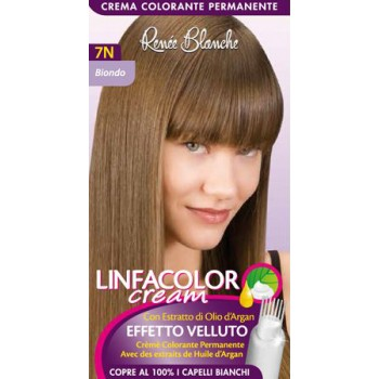 Coloration permanente linfacolor cream 7N Blond avec graines de lin et huile d'argan